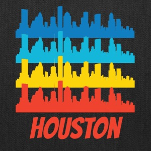 Retro Houston TX Skyline Pop Art - Tote Bag