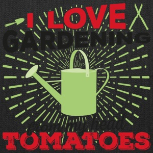 I love gardening from my head tomatoes (dark) - Tote Bag