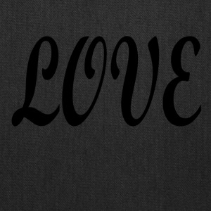 Love black font - Tote Bag