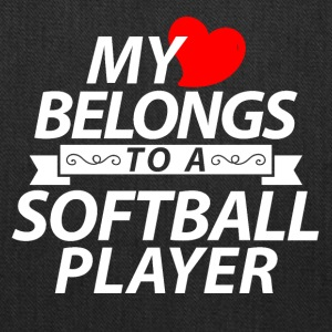 My heart belongs to a Softball player - Tote Bag