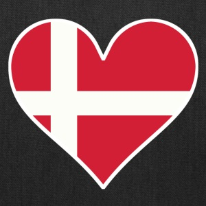 Danish Flag Heart - Tote Bag