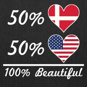 50% Danish 50% American 100% Beautiful - Tote Bag