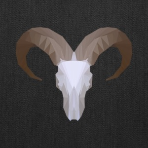 Low Poly Aoudad Skull - Tote Bag