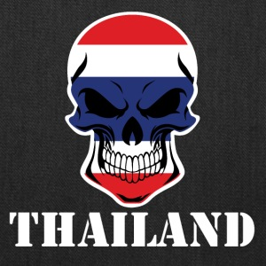 Thai Flag Skull Thailand - Tote Bag