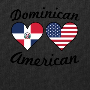 Dominican American Flag Hearts - Tote Bag