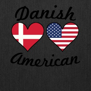 Danish American Flag Hearts - Tote Bag