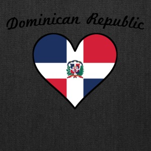 Dominican Republic Flag Heart - Tote Bag