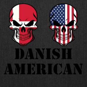Danish American Flag Skulls - Tote Bag