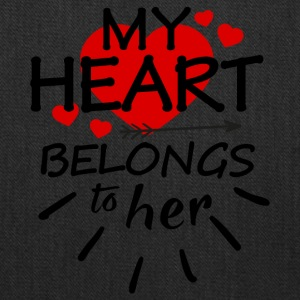 My heart belongs to her - Tote Bag