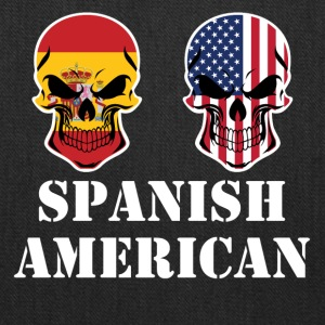 Spanish American Flag Skulls - Tote Bag