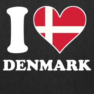 I Love Denmark Danish Flag Heart - Tote Bag