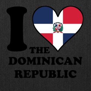 I Love Dominican Republic Dominican Flag Heart - Tote Bag