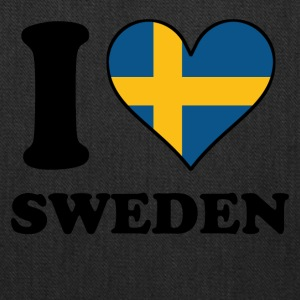 I Love Sweden Swedish Flag Heart - Tote Bag