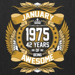 Anuary 1975 42 Years Of Being Awesome - Tote Bag
