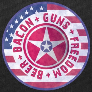 Beer Bacon Guns Freedom - T-Shirt - Tote Bag