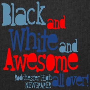 Black And White And Awesome All Over Rodchester H - Tote Bag