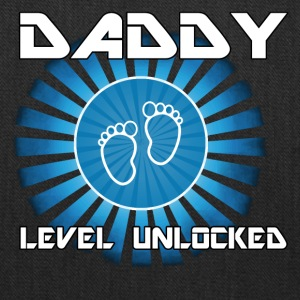 Daddy Level Unlocked Funny Dad Game Geek Gift - Tote Bag
