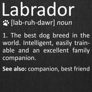 Labrador Definition Awesome Dog Breed Meaning Gift - Tote Bag