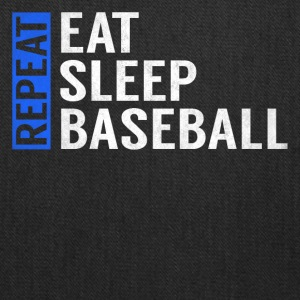 Eat Sleep Baseball Repeat Funny Quote Gag Gift - Tote Bag