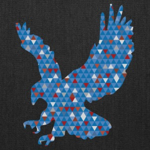 Geometric Eagle, eagle with the colors of freedom - Tote Bag