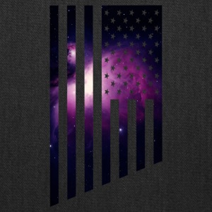 Galaxy USA The American Flag with a purple outer - Tote Bag