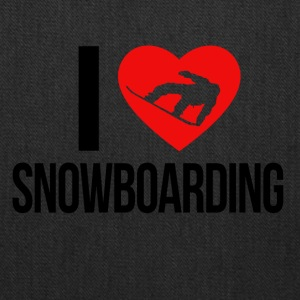 I LOVE SNOWBOARDING - Tote Bag