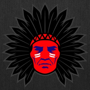 indian_chief_head_black - Tote Bag