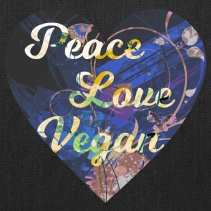 Vegan - Peace, Love, Vegan - Tote Bag