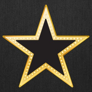 Gold and Black Star - Tote Bag
