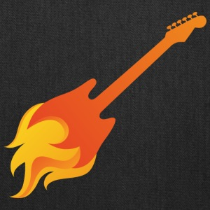 Rock Guitar in Flames - Tote Bag