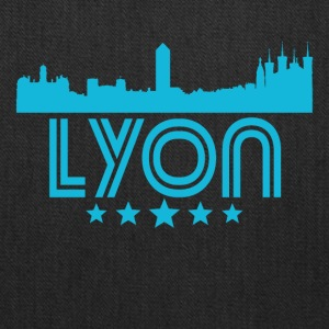 Retro Lyon Skyline - Tote Bag