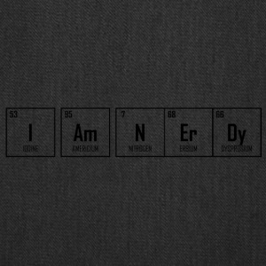 I Am NErDy - Periodic Table Design - Tote Bag
