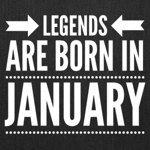 Legends Born January - Tote Bag