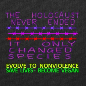 THE HOLOCAUST NEVER ENDED - Tote Bag