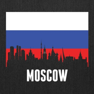 Russian Flag Moscow Skyline - Tote Bag