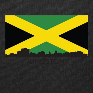 Kingston Jamaica Skyline Jamaican Flag - Tote Bag