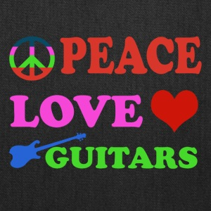 Peace love Guitars - Tote Bag