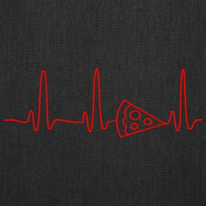 EKG HEARTBEAT PIZZA red - Tote Bag