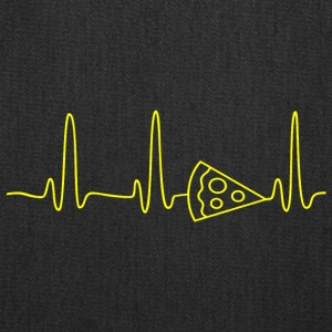 EKG HEARTBEAT PIZZA yellow - Tote Bag