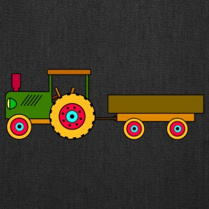 toy tractor with trailer - Tote Bag