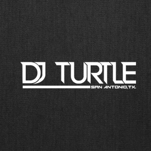 dj turtle white logo - Tote Bag
