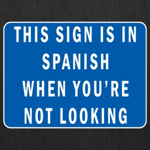 Funny Spanish mind games sign - Tote Bag