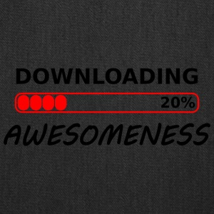 downloading awesomeness tshirt - Tote Bag