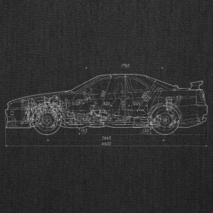 Skyline GT-R R34 Blueprint - Tote Bag