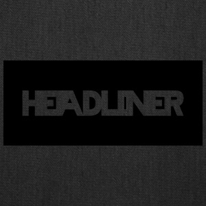 HEADLINER LOGO TRANSPARENT ON BLACK - Tote Bag