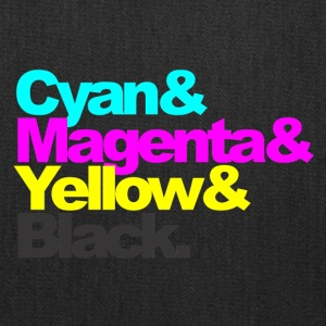 Cyan and Magenta and Yellow and Black - Tote Bag