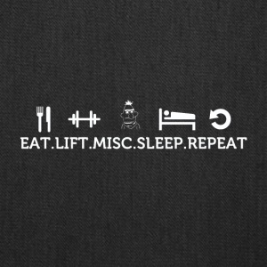 Eat lift sleep misc repeat - Tote Bag