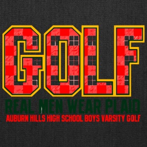 Golf Real Men Wear Plaid Auburn Hills High School - Tote Bag
