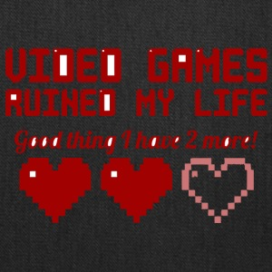 Video Games Ruined My Life vectorized - Tote Bag
