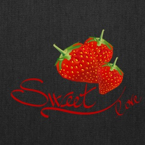 fruit sweet love strawberry - Tote Bag